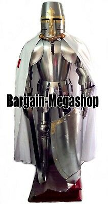 Templar Knight Crusader Full Suit of Medieval Armour - Custom Size