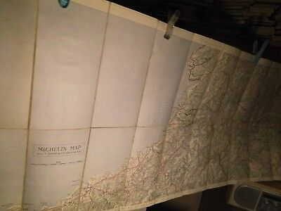 WALES (mid)AND HEREFORD: EARLY MICHELIN MOTOR TOURING MAP- BETWEEN WARS