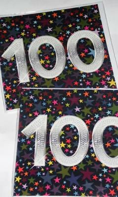 """AGE 100 CARDS x12, just 27p, WRAPPED, MULTI COLOUR, GREAT BOARD, 6"""" SQUARE (B12"""