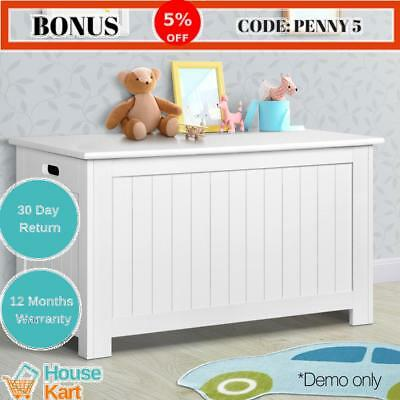 Kids Toy Box Chest Storage Cabinet Containers Children Clothes Organiser White
