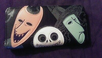 Nightmare Before Christmas 25th Anniversary wallet (w/Lock, Shock & Barrell) NWT