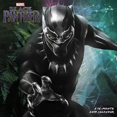Marvel Comics Black Panther Movie 16 Month 2019 Wall Calendar NEW SEALED