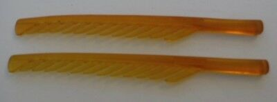 Set of 2 Vintage Quirl Products Combs Curls Hair Amber Celluloid?