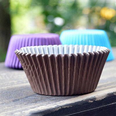 100X Paper Baking Cup Cake Cupcake Cases Liners Muffin Dessert Wedding Party NEW