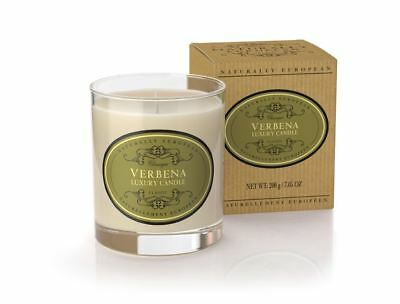 Naturally European Verbena Scented Luxury Candle 200g 40 Hours Burn