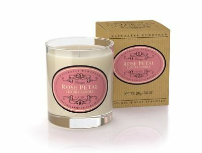 Naturally European Rose Petal Scented Luxury Candle 200g 40 Hours Burn