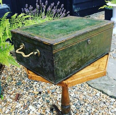 S Mordan & Co Steel Campaign Writing Box Desk Box Strong Jewellrey Chest