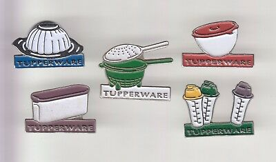 Rare Pins Pin's .. Beaute Forme Tupperware Cuisine Cooking Set Shaker Box  5 ~Dn