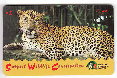 Asie  Telecarte / Phonecard .. Singapour 10$ Gpt 94Sigc Leopard Panthere Panther