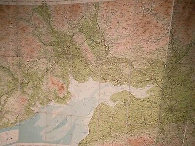 Sc0Tland Bartholomew Antique Map No.2:dumfries & Solway:topographic C1916+ Ctc