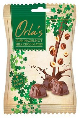 Orla's Irish Hazelnut Milk Chocolates in a 100g Bag, Made in Ireland