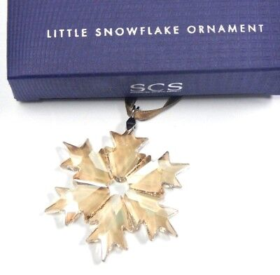 2018 Scs Little Snowflake Gold Ornament Authentic Swarovski Crystal  5357986