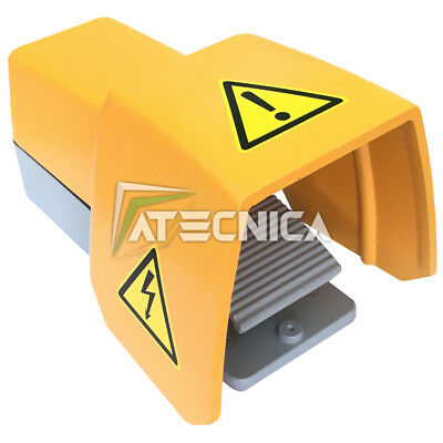 Switch foot control in aluminium for machinery IP65 250V 10A contact NO-NC