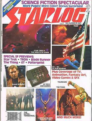 STARLOG Anniversary Two Mag Lot #60 & #61 1982 VF. Revenge Of The Jedi More.