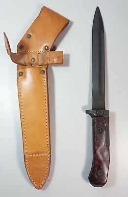 "Original Czech Vz-58 Bayonet with Scabbard Knife 7"" Blade Near Mint"