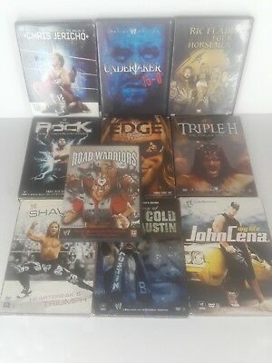 Lot of 10 WWE Wrestling Superstar DVDs Ric Flair Horsemen Undertaker The Rock