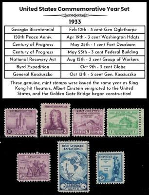 1933 US Postage Stamps Complete Commemorative Year Set Mint