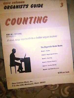 1967  Dave Coleman Organists Guide   Book 3