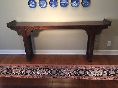 Early 19th CenturyChinese Dragon CarvedElm WoodAltar Table