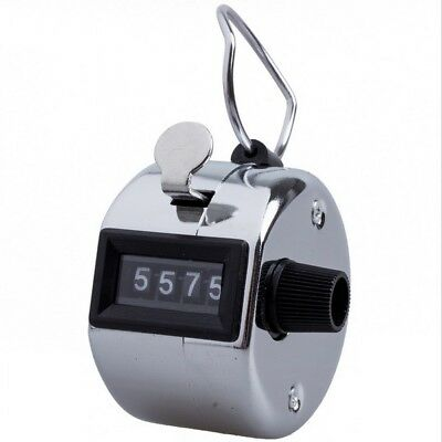 4 Digit Counting Manual Hand Tally Number Counter Mechanical Click Clicker
