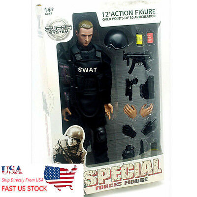 1//6 Scale 12inch//30cm SWAT Soldier figure toys Activity dolls With Accessories
