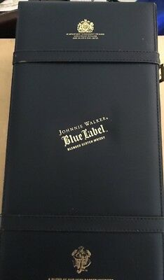 Rare LUXURY JOHNNIE WALKER BLUE LABEL CASE / GIFT BOX Soft Padded