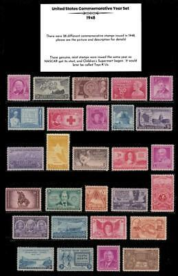 1948 US Postage Stamps Complete Commemorative Year Set Mint