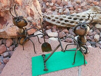 Rock Ant Mowing the Lawn with his Supervisor  Outdoor Safe Garden Decor Humorous