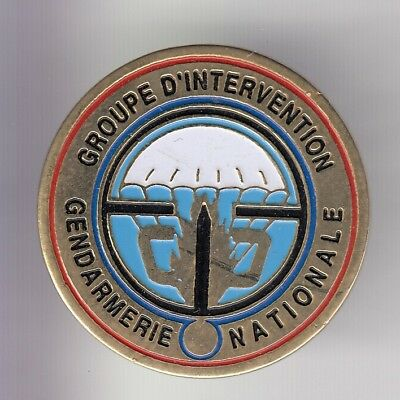 Rare Pins Pin's .. Gendarmerie Nationale Gign Swat Groupe Intervention Or ~Dt