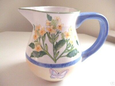 Retired in 2000 ~ Royal Worcester HERB GARDEN Hand Painted 48 oz PITCHER