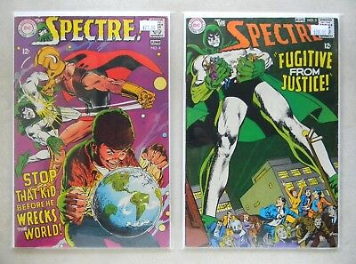 The Spectre #4 & 5 $51.00 (1968, DC) 5.5/6.0 FN CLASSIC NEAL ADAMS COVERS T-Rex