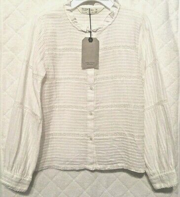 451b0c94 NEW W TAG Zara Girls Casual Collection Sz 8 White Sheer Lace Tie ...