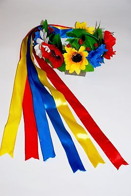 "Ukrainian head-band ""Wreath"" with ribbons"