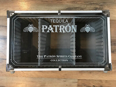 TEQUILA PATRON Spirits Collection Display Carrying Case with Dividers