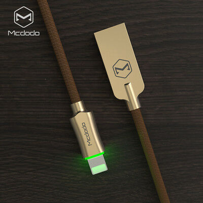 MCDODO Smart LED Auto Disconnect 8 Pin USB Charging Cable Cord for iPhone X 8 7
