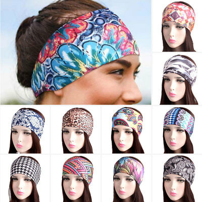 Women Sports Sweat Sweatband Headband Yoga Gym Stretch Head Band Hair Band