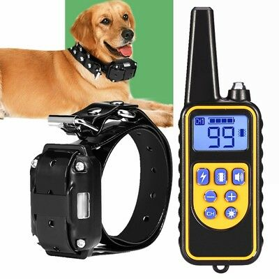 All Size Dog Shock Collar with Remote Electric 875 Yard Large Pet Training
