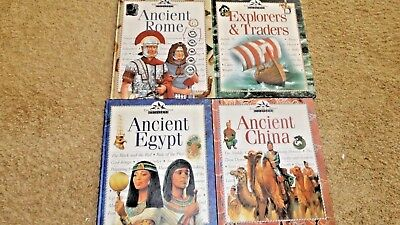 Lot 7 TIME LIFE Book ANCIENT CHINA,EGYPT,ROME Homeschool History Science Books