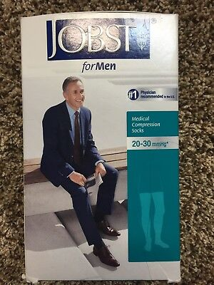 Men's Jobst Compression  Xl 20-30 mmHg Beige Thigh Highs Closed Toe