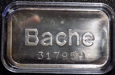 Bache Pioneer Mint 1 oz .999 Fine Silver Art Bar with serial number