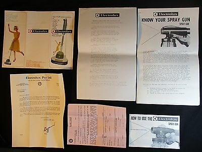 VINTAGE ELECTROLUX EPHEMERA 1967, DOCKET VACUUM No.89, LETTERS, HOW TO MANUALS