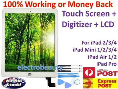 iPad 2 3 4 iPad Air 1 2 iPad Mini Full LCD + Touch Screen Digitizer Replacement