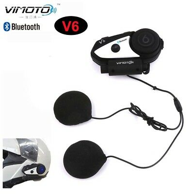 Vimoto V6 Headset Motorcycle Stereo Earphone Good Voice For 2Ways Radio 2 Riders