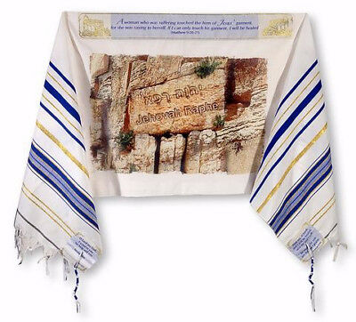 "Prayer Shawl-Healing (Matthew 9:20-21) (72"" x 22"")-Acrylic"
