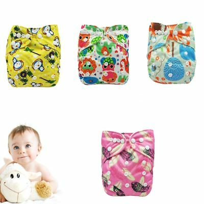 Adjustable Baby Diapers Cover Reusable PUL Double Gussets Cloth Nappy Fit:6-11kg
