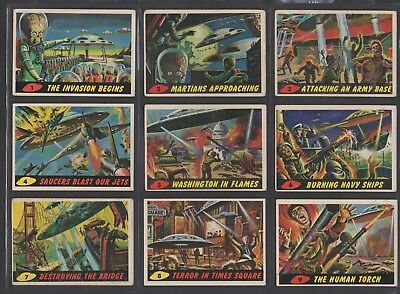 1962 Topps Mars Attacks Complete Set VG/EX +++