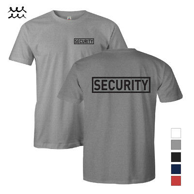 Mens Security Printed T Shirt Law Enforcement Shirts Safety Graphic Work Uniform
