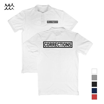 Mens Corrections Polo T Shirt Law Enforcement Shirts Police Safety Uniform Tee
