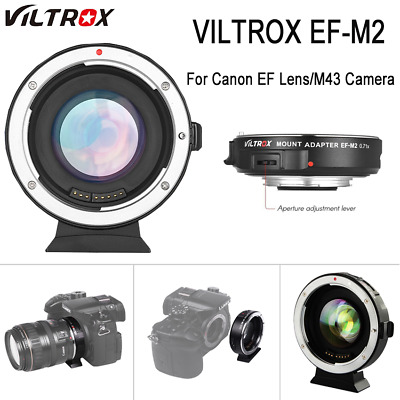 Viltrox EF-M2 Auto Focus Lens Mount Adapter 0.71x for Canon Lens to M4/3 camera