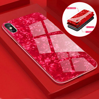 3D Bling Tempered Glass Case for iPhone X 8/7/6 6s Plus Shockproof Bumper Cover